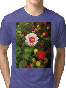 Spring Patchwork Tri-blend T-Shirt