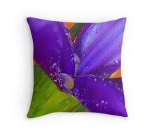 Iris Abstract Throw Pillow