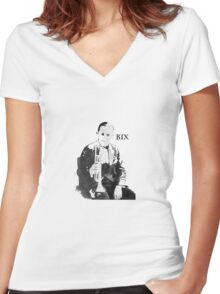 Ladies and Gentlemen: Bix Beiderbecke! Women's Fitted V-Neck T-Shirt
