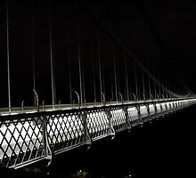 Clifton Suspension Bridge at night - Bristol by lbu98caj