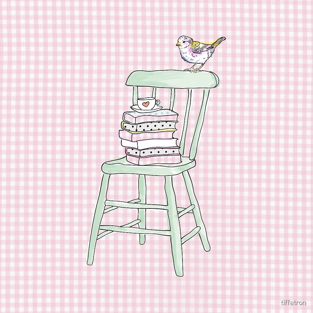 bird on a chair knows what's up! by Tiffany Atkin