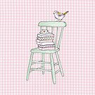 bird on a chair knows what&#x27;s up! by Tiffany Atkin