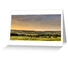 Corfe Castle Landscape Greeting Card