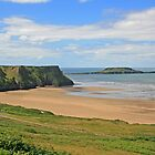 Gower Peninsula, Rhossili Beach & Worm's Head by RedHillDigital
