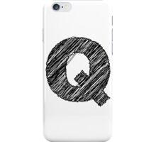 Sketchy Letter Series - Letter Q iPhone Case/Skin