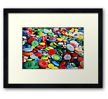 Bright primary coloured buttons Framed Print
