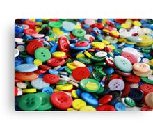 Bright primary coloured buttons Canvas Print