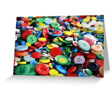 Bright primary coloured buttons Greeting Card