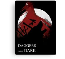 Daggers in the Dark Canvas Print