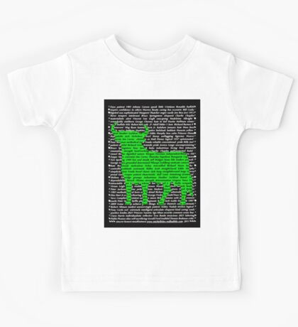 """""""The Year Of The Ox / Oxen / Buffalo / Cow"""" Clothing Kids Tee"""
