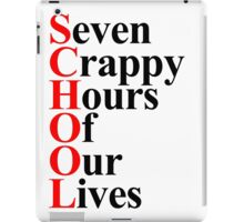 School acrostic iPad Case/Skin