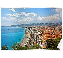 Summer Landscape of Nice, France Poster
