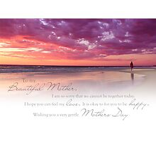 Mothers Day (Card From Child To Mother) Photographic Print