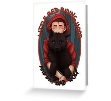 Little Red and BigBad Wolf Greeting Card