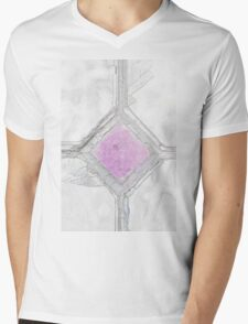 Old window with broken glass Mens V-Neck T-Shirt