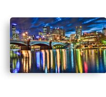 Yarra River overlooking Melbourne City Canvas Print