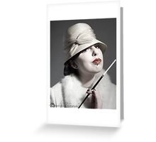 smoking gal...... Greeting Card