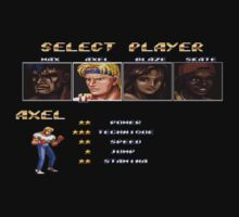 Streets of Rage 2 – Select Axel by PonchTheOwl
