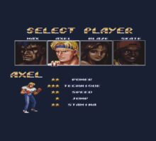 Streets of Rage 2 – Select Axel Kids Tee