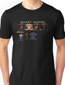 Streets of Rage 2 – Select Axel Unisex T-Shirt