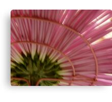 Under The Skirt of a Pink Chrysanthemum Canvas Print