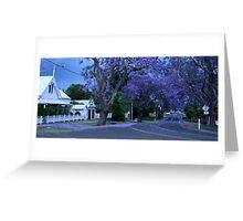 Grafton Jacarandas Greeting Card