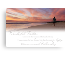 Fathers Day (Card From Child To Father) Canvas Print