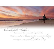 Fathers Day (Card From Child To Father) Photographic Print