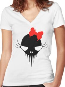 so pretty in red (without text) Women's Fitted V-Neck T-Shirt