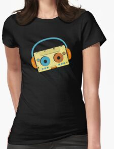MP3 Cassette Womens Fitted T-Shirt
