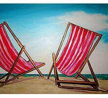 Beach Chairs May '11 Photographic Print