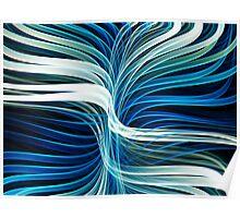 Flowing Fractal Lines Poster
