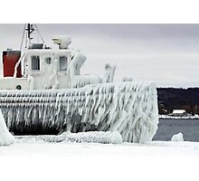 Ice Freighter Photographic Print