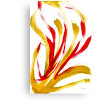 Flame Abstract Art Canvas Print