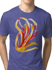 Flame Abstract Art Tri-blend T-Shirt