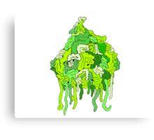 Green Guts Canvas Print