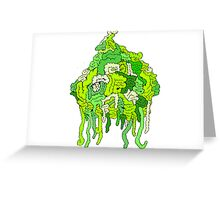 Green Guts Greeting Card