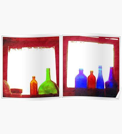 RED bottles Poster