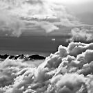 The  Aravis mountains in the clouds by Rmi Bridot