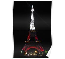 Eiffel Tower at night-Paris, France Poster
