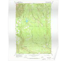 USGS Topo Map Oregon Jubilee Lake 280351 1967 24000 Poster