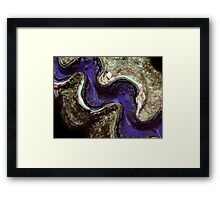 Blue Clam with Nudibranch Framed Print