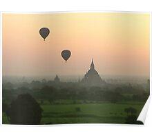 Balloons at Bagan Poster
