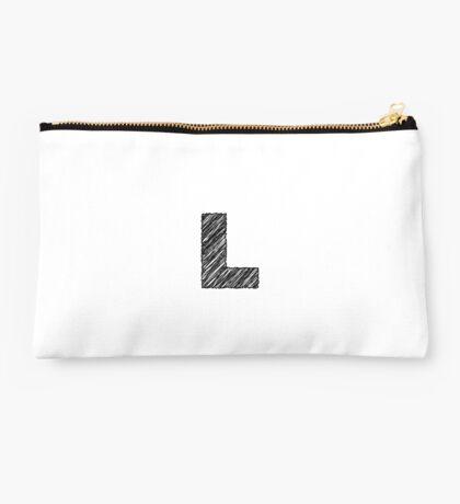 Sketchy Letter Series - Letter L Studio Pouch