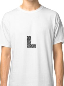 Sketchy Letter Series - Letter L Classic T-Shirt