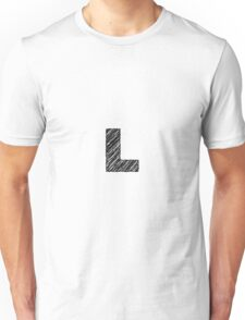 Sketchy Letter Series - Letter L Unisex T-Shirt