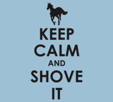 Keep Calm and Shove It - Black Kids Clothes