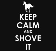 Keep Calm and Shove It - White Kids Clothes