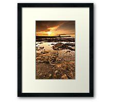 Twin Piers Framed Print