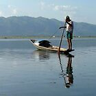 Early morning fisherman on Lake Inle by SerenaB